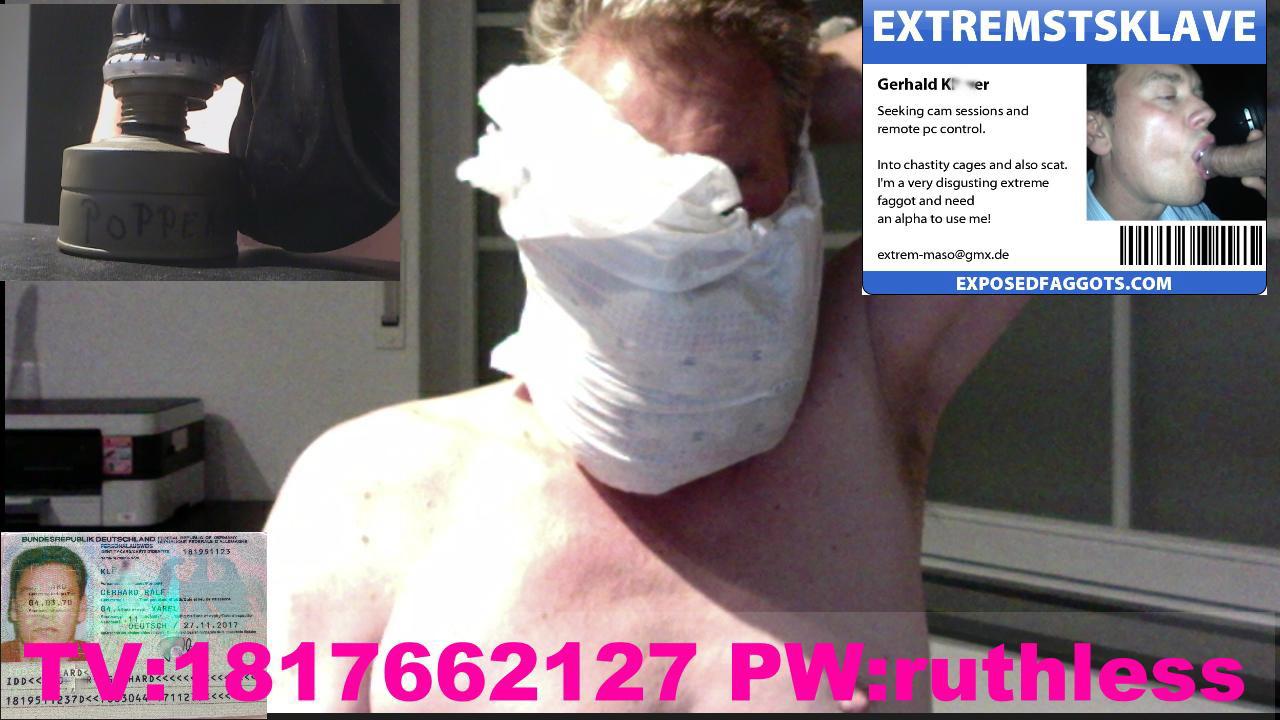 gerhard exposed blackmail loser humiliation diaper