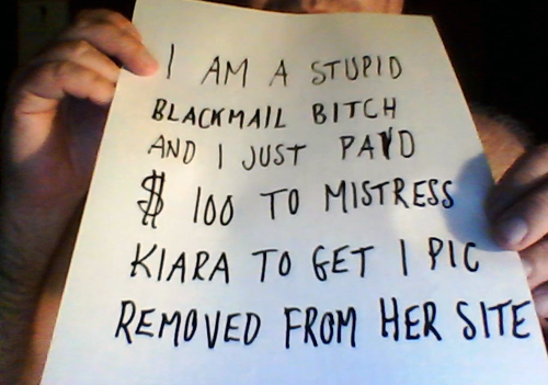 blackmail loser sune anderson property of blackmail Mistress Kiara