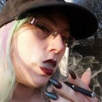 femdom Mistress smoking cigarette fetish