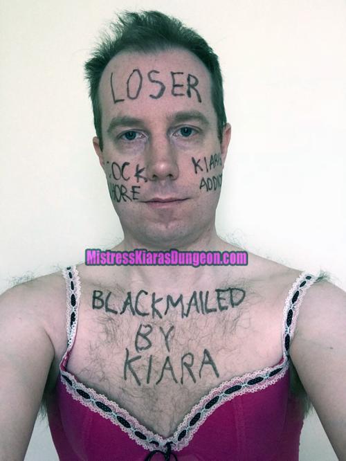 simon morrison real blackmail slave humiliation for blackmail Mistress Kiara