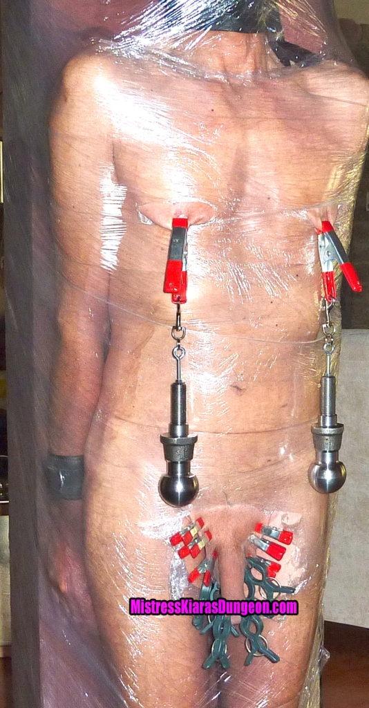 slave gerd seran warp fetish nipple torture weights