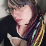 punk goth femdom dominatrix Mistress Kiara cleavage
